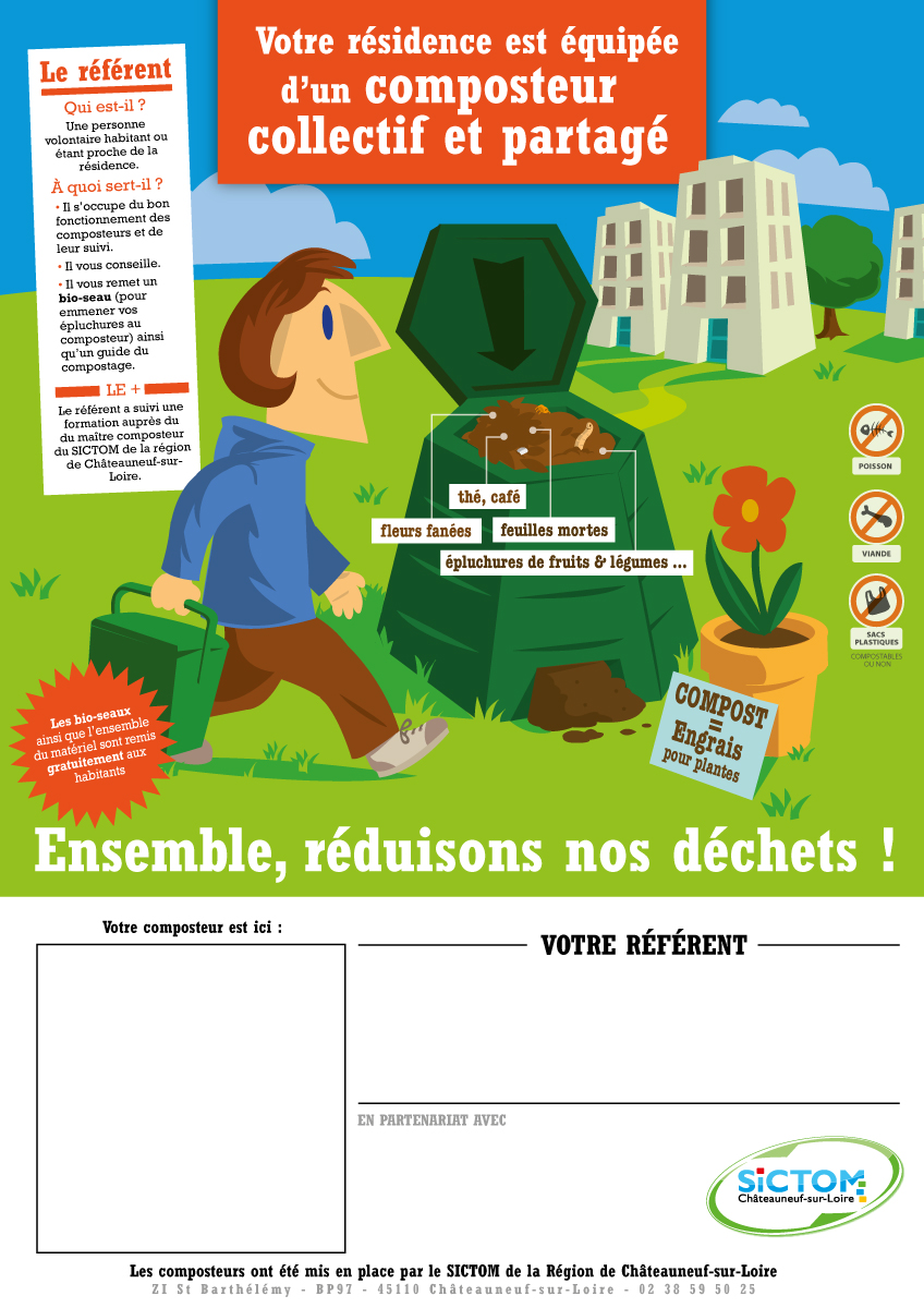 Affiche compostage collectif vierge